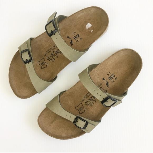 abe52742cf79 Birkenstock Shoes - Birkenstock Birkis Olive Green Tahiti Sandal